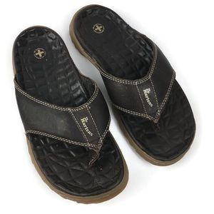 Dr. Martens Quilted Leather Thong Sandals in Brown
